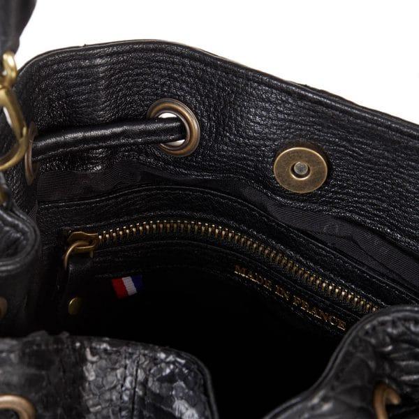 Sac à main Abaco - Juliette python noir