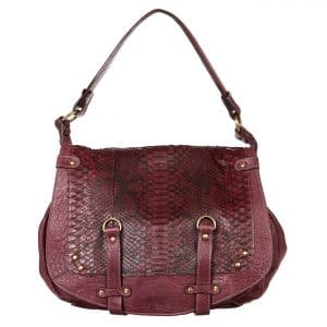 Sac à main Abaco - Jamily python bordeaux