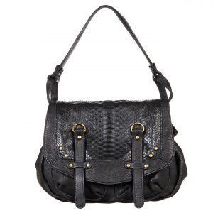 Sac à main Abaco - Mini Jamily python noir